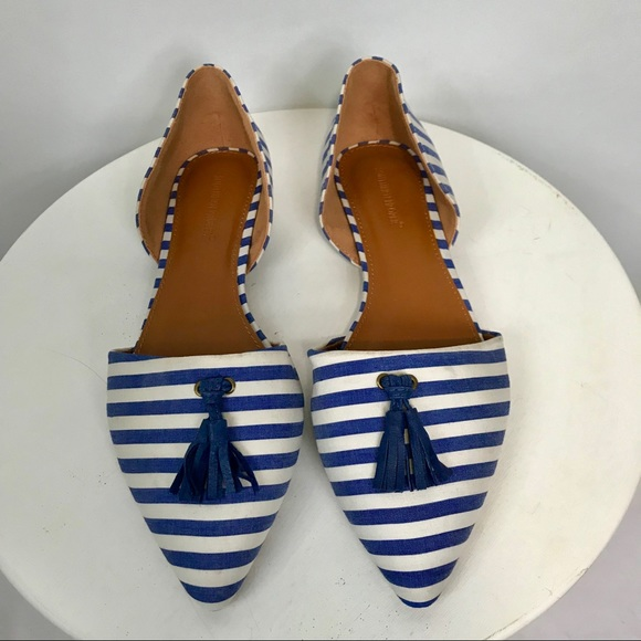 Shoes - Southern Proper Striped Pointed Toe Flats
